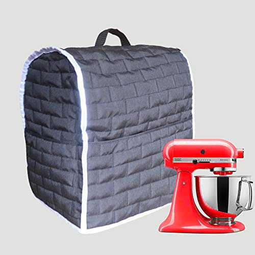 Stand Mixer Dust Cover for MixersCloth Cover with Pockets for Extra Attachments Black Fits for All 68 Quart