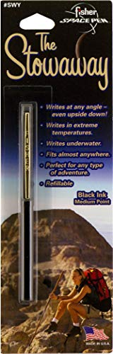 Fisher Space Pen Stowaway Space Pen with Clip, Black (SWY/C-BLACK)