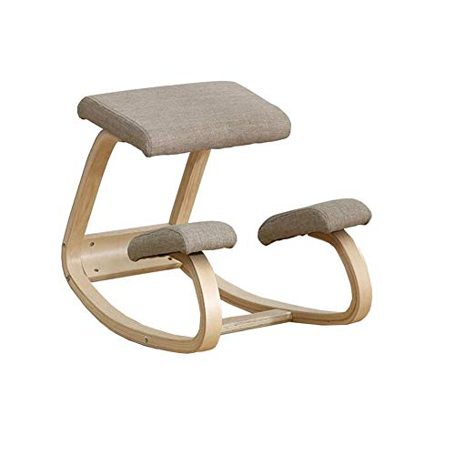 Sillones reclinables Silla ergonómica para arrodillarse Postura ortopédica Taburete Marco Asiento Mecedora Postura Vertical Taburete para Rodillas Hogar, Oficina Meditación Mejora de la Postura