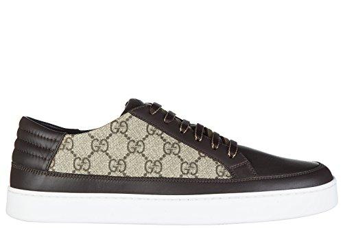 Gucci scarpe sneakers uomo nuove originale gg supreme beige