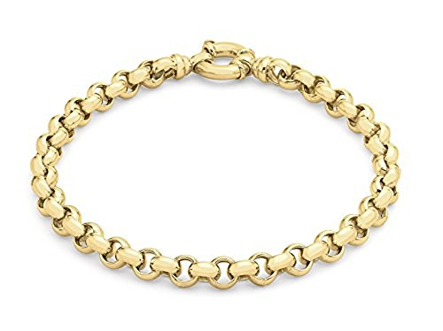 Carissima Gold Women's 9 ct Yellow Gold 5.8 mm Large Spring Ring Belcher Chain Bracelet of Length 20 cm/8 Inch