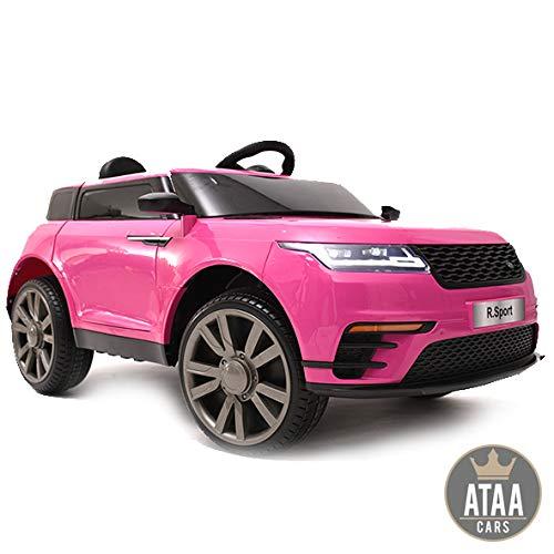 ATAA R-Sport 12v - Rosa - Coche eléctrico para niños y niñas con Mando Padres y batería 12v