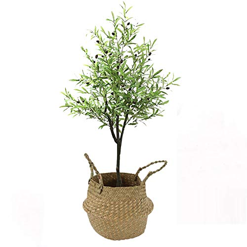 Yipianyun Palme Palmenbaum Königspalme, Cocospalme Kunstpflanze Kunstbaum Künstliche Pflanze Echtholz Hochzeit/Party Empfangstisch Blumen,Natural,170cm