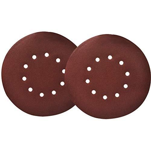 QLOUNI 25 Stück Schleifscheiben mit Körnung P120, Ø 225mm | 10 Loch, Schleifpapier, Deckenschleifer für Trockenbauschleifer