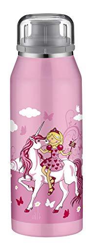 alfi Thermosflasche isoBottle Einhorn 350ml, Isolier-Trinkflasche kohlensäurefest, Edelstahlflasche für Kinder auslaufsicher, 5677.113.035, Thermoskanne 12 Stunden heiß, 24 Stunden kalt, BPA Frei