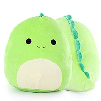 Fasouem Dinosaur Plush,3D Cute Dino Stuffed Toy 7.87 in Soft Throw Pillow Birthday Gift for Girls Kids Girlfriend  Blue