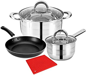 6-Pieces LeFroom Kitchen Stainless Cookware Set