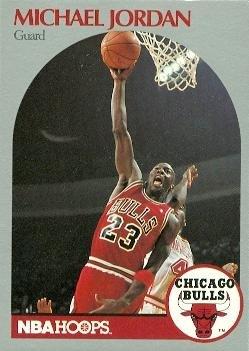 Michael Jordan Basketball Card (Chicago Bulls) 1990 Hoops #65
