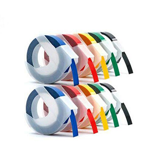 3M DIY Handmade Craft 3D Sticker Label Maker Manual Embossing Refill PVC Label Tape with 7 Colors