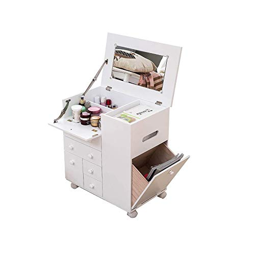 WZHZJ Nordic Tocador Dormitorio Economía Tipo Simple Ventana Flotante Apartamento pequeño Maquillaje Multifuncional