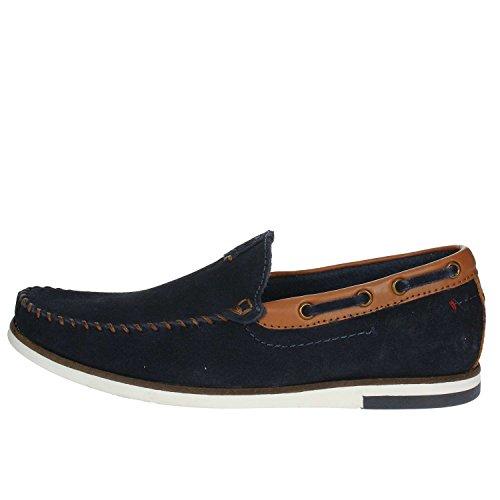 Wrangler Mens Sharky Nubuck Leather Memory Foam Slip On Loafer Shoes WM181850-Navy-UK 9 (EU 43)