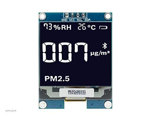 XIAOSHI Little Oriental 1,5 Zoll 1.5'128x128 OLED-Schirm-Bildschirm-Modul Weiß/Gelb Fit für Raspberry Pi für STM32 Fit für Arduino (Color : White)