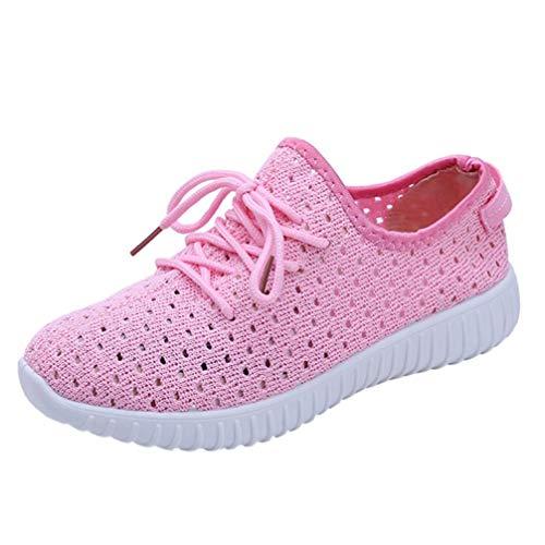 。◕‿◕。 Meilleure Vente! LuckyGirls Ceinture Maille Respirante avec des 2018 Chaussures de Course à Fond Plat Femmes Nouveau Mode Solide Couleur Cross Tied Gym Shoes 35-42