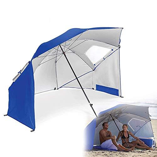 TBDLG Parasol De Plage Unisexe,Parapluie De Golf Longueur Plié dans Pliable Camping Bains Plage Sports Loisirs