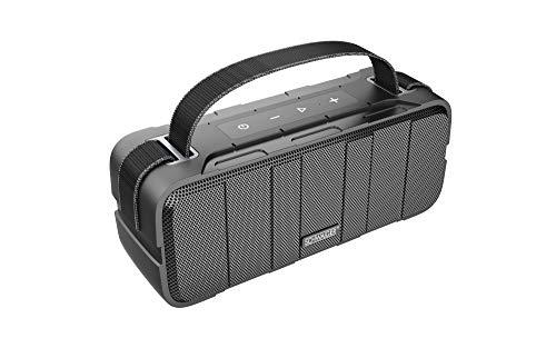 SCHWAIGER -BS220 - Altavoz Bluetooth para exteriores IPX5 resistente al agua TWS hasta 10 horas de música inalámbrica, para viajes con correa