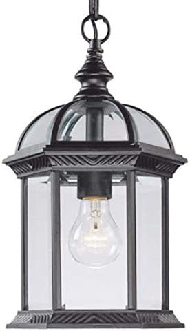 high quality Acclaim lowest 5276BK One Light Outdoor Hanging high quality Lantern, Black online