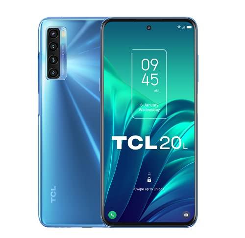 TCL 20L 128GB - Smartphone de 6.67' FHD+ con NXTVISION (Qualcomm Snapdragon 662, 4GB/128GB Ampliable MicroSD, Dual SIM, Cámaras 48MP+8MP+2MP+2MP, Batería 5000mAh, Android 11) Azul
