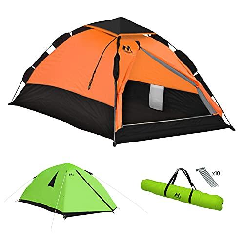 Tenda Da Campeggio, tenda 1 posto ultraleggera, Montaggio Istantaneo, Impermeabile e Anti UV 4 stagioni, Borsa porta tenda, Tende per Zaino in Spalla per Viaggi di Coppia con ingombro ridotto