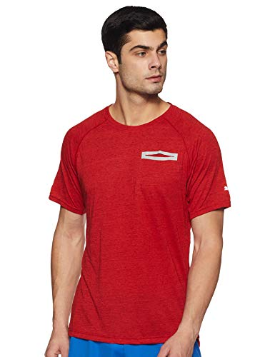 Puma Energy S/S tee Camiseta, Hombre, Rojo (Flame Scarlet Heather), 2XL