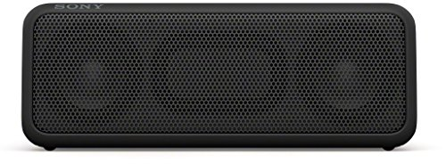 Sony SRS-XB3 tragbarer kabelloser Lautsprecher (Extra-Bass, wasserabweisend, NFC, Bluetooth, 24 Stunden Akkulaufzeit) schwarz