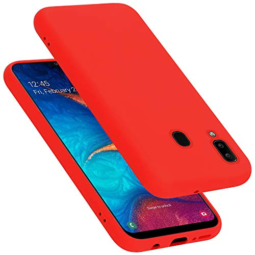 Cadorabo Funda para Samsung Galaxy A20 / A30 / M10S en Liquid Rojo - Cubierta Proteccíon de Silicona TPU Delgada e Flexible con Antichoque - Gel Case Cover Carcasa Ligera
