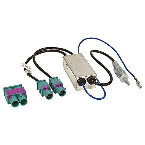 tomzz Audio 1503-009 Double Adaptateur d'antenne Fakra Diversity avec Alimentation fantôme Compatible pour Audi Seat Skoda VW Citroën Peugeot Opel on DIN