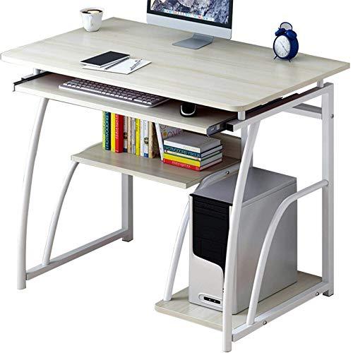 Belleashy - Escritorio de ordenador portátil, escritorio de escritura, simple mesa de estudio para la redacción de estudios de trabajo, etc. (Size:One Size, Color:White)