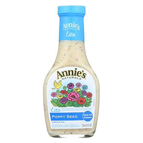 Annies Naturals Lite Poppy Seed Dressing, 8 Ounce - 6 per case