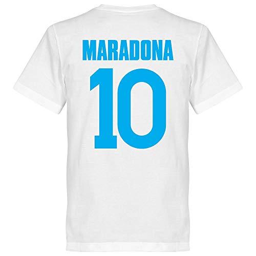 Napoli Maradona 10 Team T-Shirt - weiß - XL