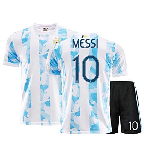 CBVB Kinderfußball Sportbekleidung, Messi's Treue Fans, Barcelona's Fußballuniform, Argentinien's Fußballtrikot-Anzug, Kann wiederholt gereinigt werden-Lightblue-26#