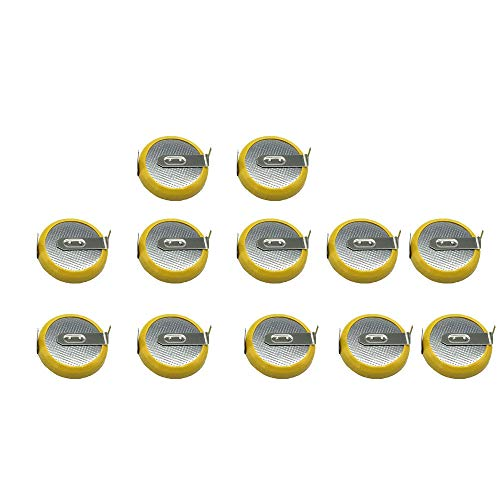12 Pack CR2032 Batteries with Tabs CR2032 tabs Replacement Save Battery for Pokemon Yellow, Game Boy, GBA, and Color, NES, SNES, and N64 Games