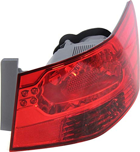 Tail Light Assembly Compatible with 2010-2013 Kia Forte Outer Sedan Passenger Side