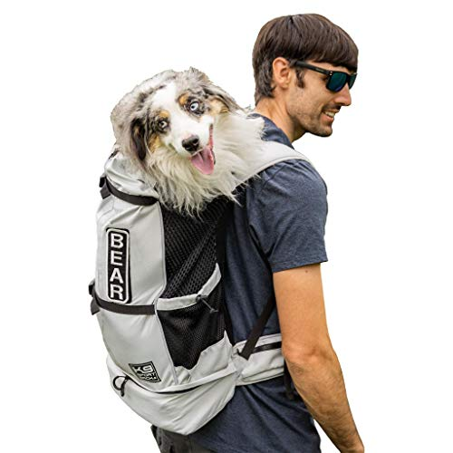 K9 Sport Sack Knavigate | Dog Carrier Dog Backpack for Most Dog Sizes | Front Facing Adjustable Dog Backpack Carrier | Veterinarian Approved (Large, Lunar Rock)
