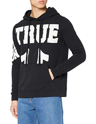 True Religion Herren Hoody True Black Kapuzenpullover, SCHWARZ, L