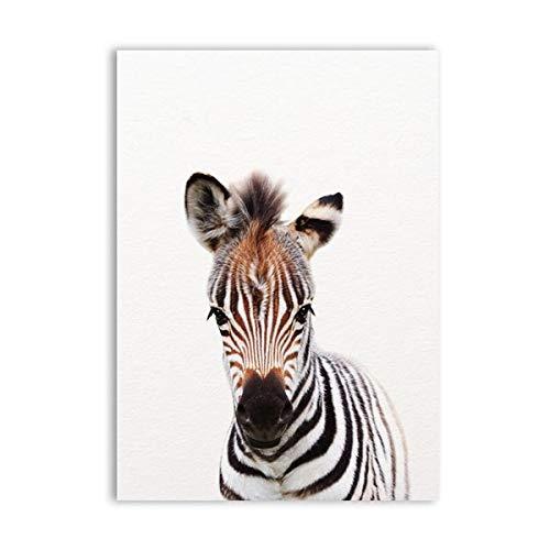 HXLFYM Kunst Diamant Malerei Löwe Zebra Elefant Giraffe Tierbabys 5D Diamant Stickerei DIY Diamant Malerei Mosaik volle Runde Bohrer Kinder Dekor Wandkunst (Color : 4, Size : 30x40cm)