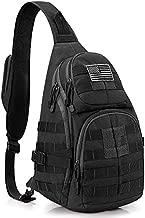 G4Free Tactical Sling Backpack Military Daypack Molle Chest Shoulder Bag(Black)
