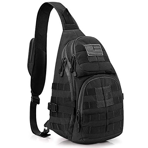 G4Free Large Tactical Sling Backpack Molle Military Bag EDC One Strap Shoulder Chest Crossbody Daypack Men Women for Camping Hiking Trekking