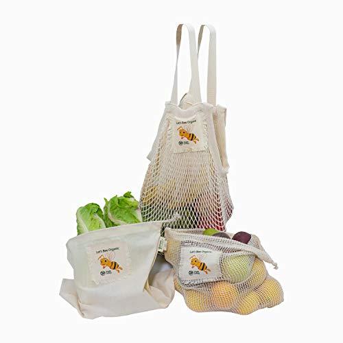 Organic Cotton Reusable Honey Bee Gift & Starter Set