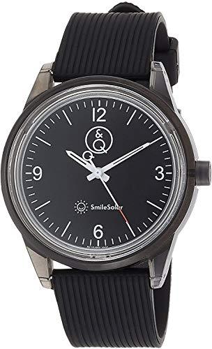 [シチズン Q&Q] 腕時計 アナログ スマイルソーラー 防水 ウレタンベルト RP10-002 メンズ ブラック