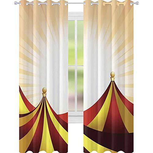 YUAZHOQI Cortinas de Carnaval o Entretenimiento Carpa Fondo Cortinas opacas para Sala de estar 132 x 160 cm
