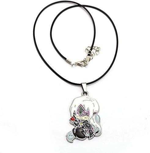 POIUIUYH Co.,ltd Halskette Spiel Dark Souls 3 Figur Halskette Frauen Männer Emaille Cartoon Anhänger Artorias Zwiebel Ritter Seil Kette Halskette Schmuck Kolye