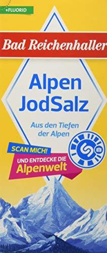 Bad Reichenhaller Jodsalz mit Fluor, 12er Pack (12 x 500 g Packung)