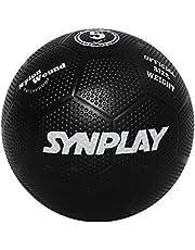 لعبة كرة قدم مطاطية - SS00130 - مقولبة بشكل مخملي، مقاس 5 (أسود)