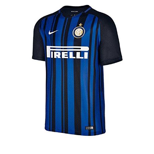 Nike Inter Milan Breathe Stadium SS Home, Short Sleeve Top Uomo, Nero/Blu Royal/Bianco, XL