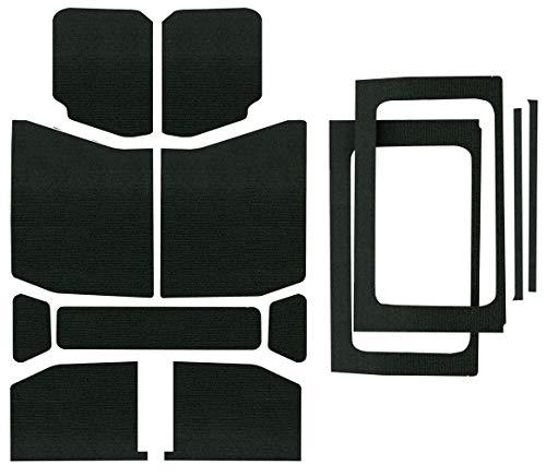 Design Engineering 050178 Boom Mat Black Complete Sound Deadening Kit Compatible with 4-Door Jeep Wrangler JL (2018-up)