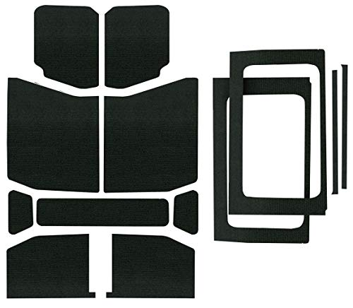 Design Engineering 050178 Boom Mat Complete Sound Deadening Kit for 4-Door Jeep Wrangler JL (2018-up) - Black