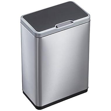 EKO 92785-1 Mirage Motion Sensor Touchless Stainless Steel Trash Can | 50 Liter