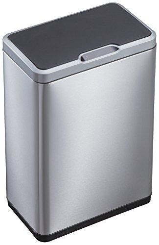 EKO 92775-1 Phantom Motion Sensor Touchless Stainless Steel Trash Can | 50 Liter