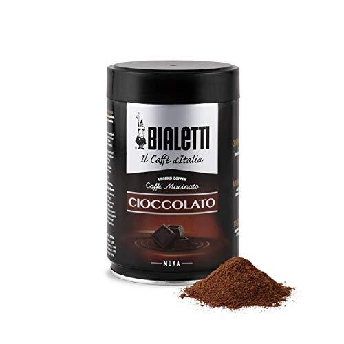 Bialetti Caffè Macinato, Gusto Cioccolato, 250 gr