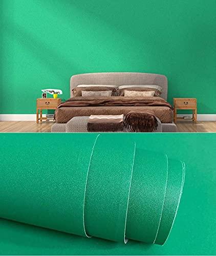 xiaoshun Wallpaper Roll Dormitorio TV Fondo Pared Estrella Papel Tapiz Dormitorio de Estudiantes Papel Autoadhesivo-0,6 * 10 Millones_Textura Mate-Verde Oscuro